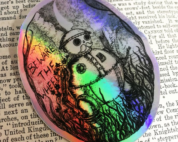 Tik-Tok holographic vinyl sticker- Return to Oz inspired shiny laptop sticker
