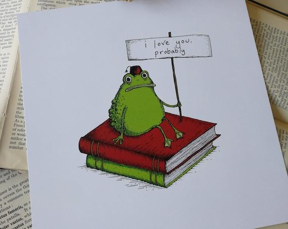 Romantic Toad- Square Art Print