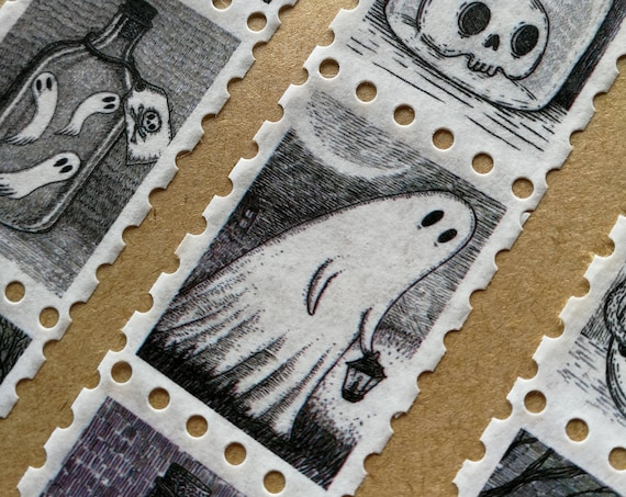 Spooky Stamps Art Washi Tape
