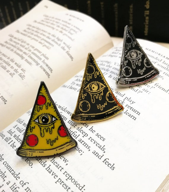 Pizzalluminati Hard Enamel Pin Badge