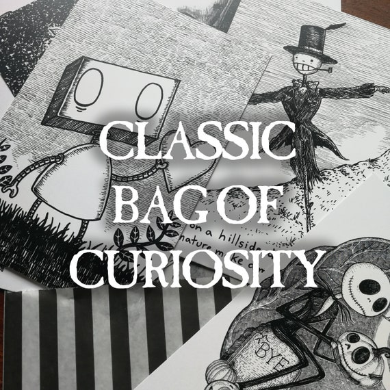 Classic Bag of Curiosity- 10 mystery postcard prints