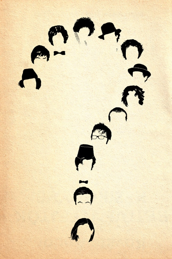 Doctor Who print - Who - Dr Who 13 Doctors inspired Minimalist art poster