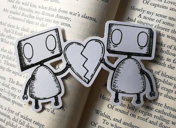 Heartbreak Robots vinyl sticker- laptop sticker