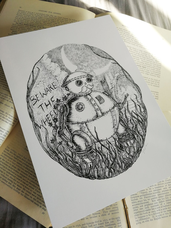 Tik Tok- Return to Oz inspired robot art print
