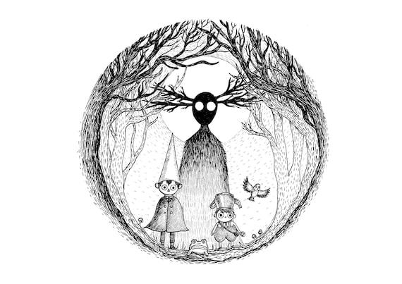 Into The Unknown art print- Over The Garden Wall Inspired