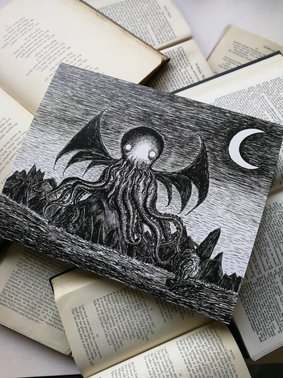 The Call of Cthulhu- art print by Jon Turner- geeky HP Lovecraft pen and ink artwork- A4 A3 8x10