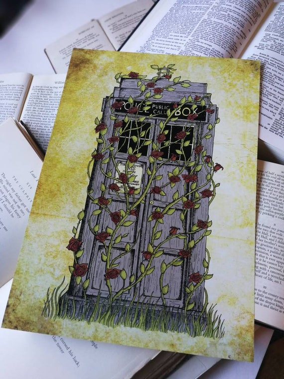 Doctor Who print - Rose - Dr Who Tardis inspired art print poster- A4 A3 8x10