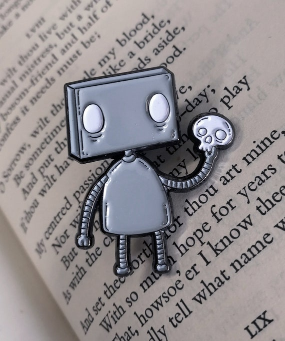 Alas! Robot Enamel Pin Badge