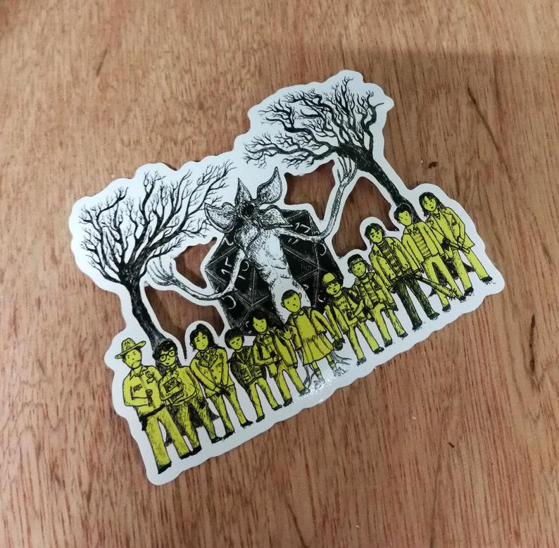 Stranger Things laptop sticker The Hawkins Tinies vinyl sticker