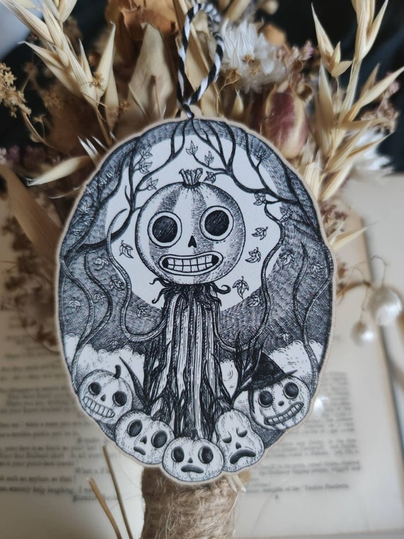 Patient is the Night- Over the Garden Wall Enoch Pumpkins Inspired Wooden Hanging Decoration
