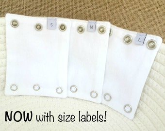 BABY BODYSUIT EXTENDERS - Add length to baby's onesies. Also great for cloth diapered and tall  babies! Fits Carters and all major brands!