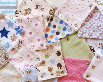 Grab Bag! BABY BODYSUIT EXTENDERS - Set of 3. Adds length to baby's onesies!
