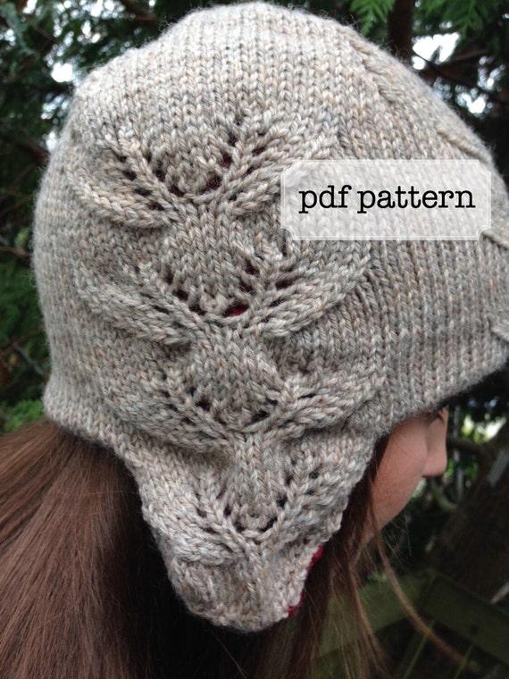 Eight Tiny Reindeer Ear Flap Hat Knitting Pattern