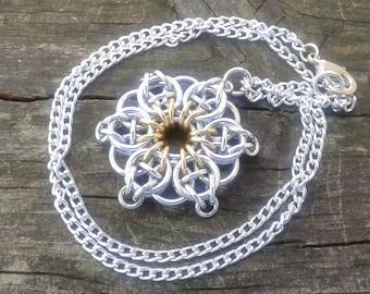 Celtic Star Pendant - Light Gold