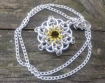 Celtic Star Pendant - Yellow