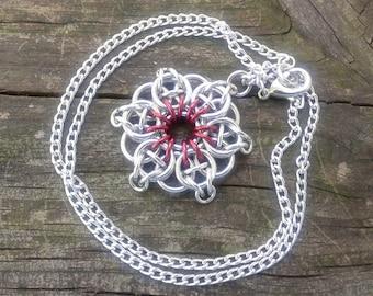 Celtic Star Pendant - Red