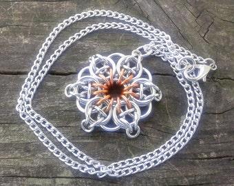 Celtic Star Pendant - Orange