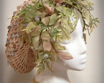 Mermaid/ sea goddess shell headdress: Lady of the Tides