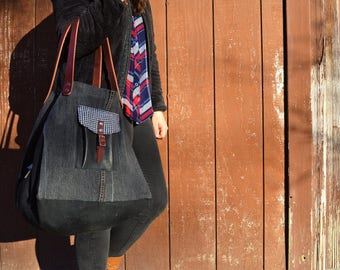 Eco-friendly Upcycled Denim Etoile Tote-