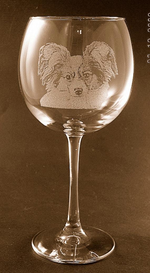 Set of 2 Etched Doberman Pinscher on Large Elegant Wine Glasses