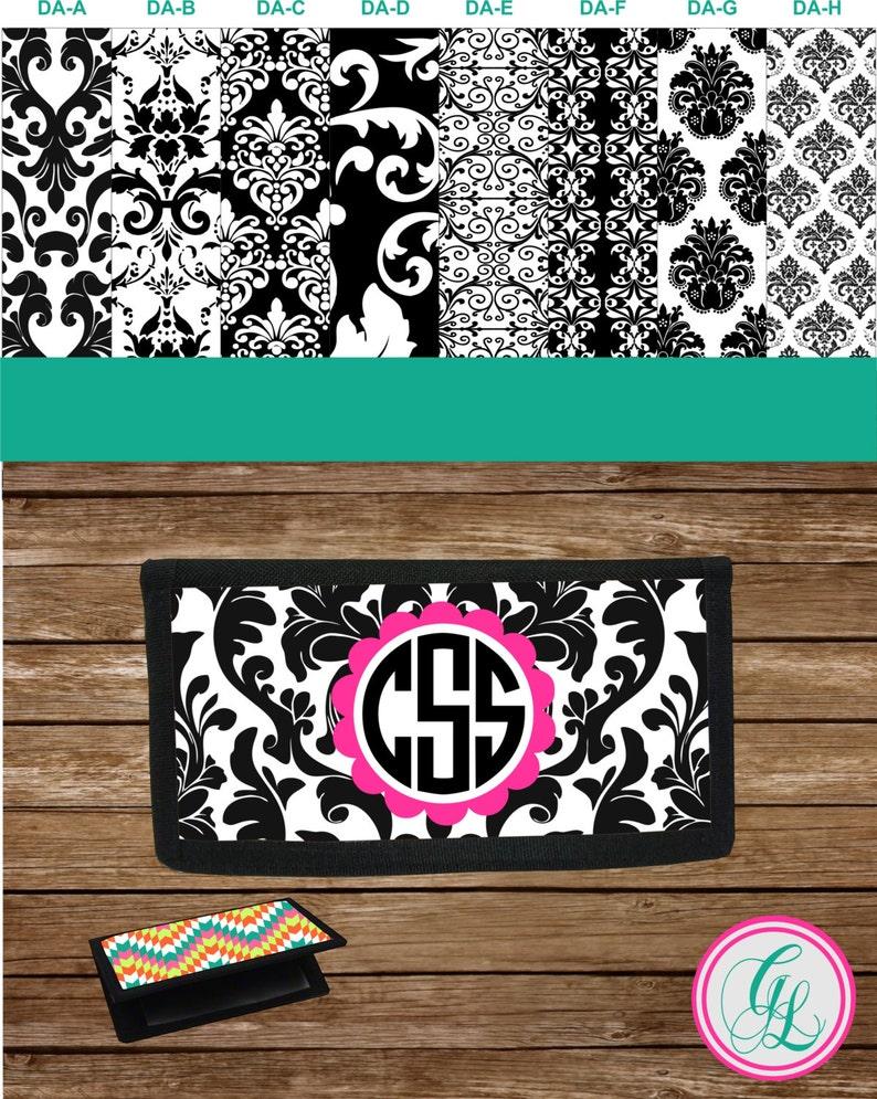 Monogram  Personalized Checkbook Cover