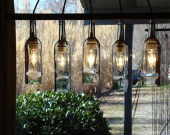 Bottle chandelier etsy wine bottle chandelier aloadofball Gallery
