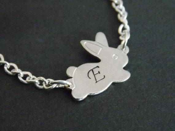 Kaninchen silber Rabbit Bunny Halskette mit Hasen Anhänger