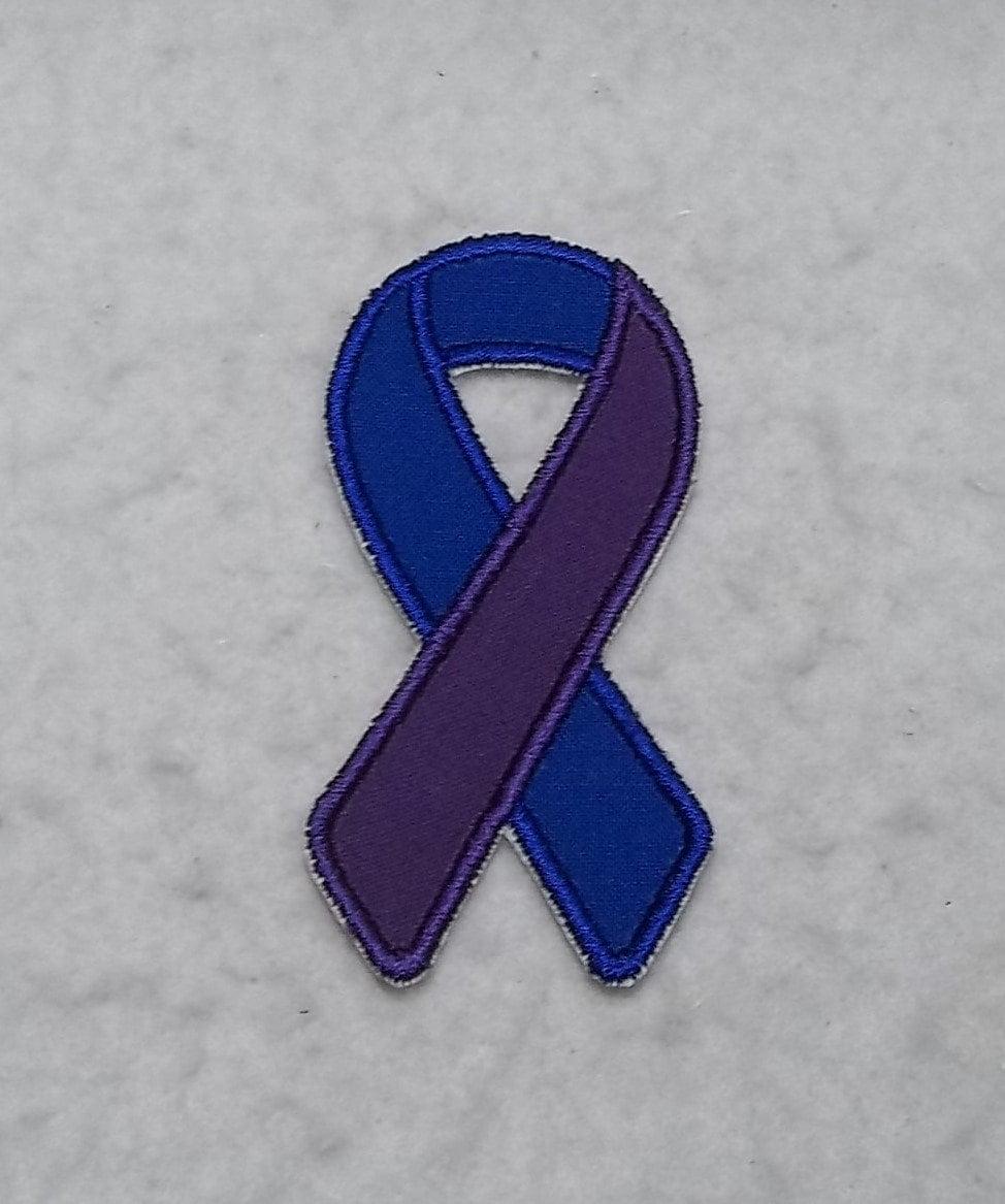blue and purple awareness ribbon arthritis jia jra ra