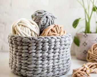 Woven Felted Wool Basket Kit