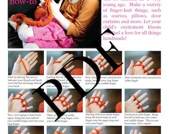 Finger Knitting How-To PDF