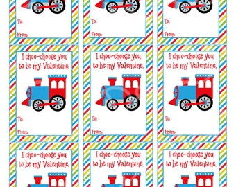 image about I Choo Choo Choose You Printable Card named Educate valentine card Etsy