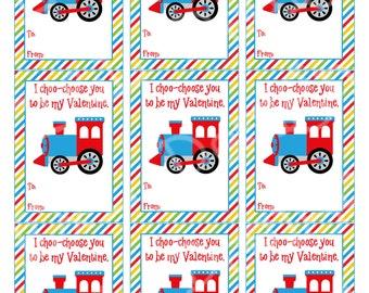 photograph about I Choo Choo Choose You Printable Card named Teach valentine card Etsy