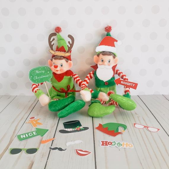 Christmas Elf Photo Booth Props Kit Elf Prop Instant