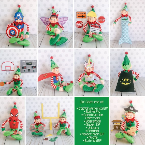 Christmas Elf Costume Kit  Elf Props Instant Download