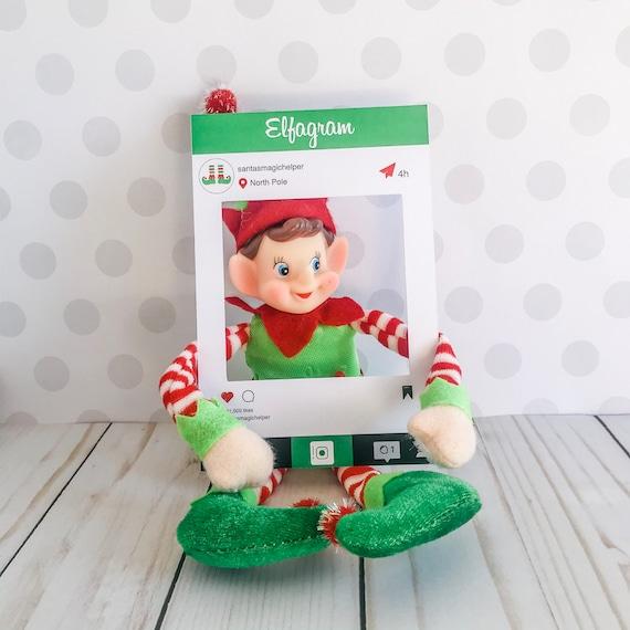 Christmas Elfagram Kit Elf Prop Instant Download Christmas