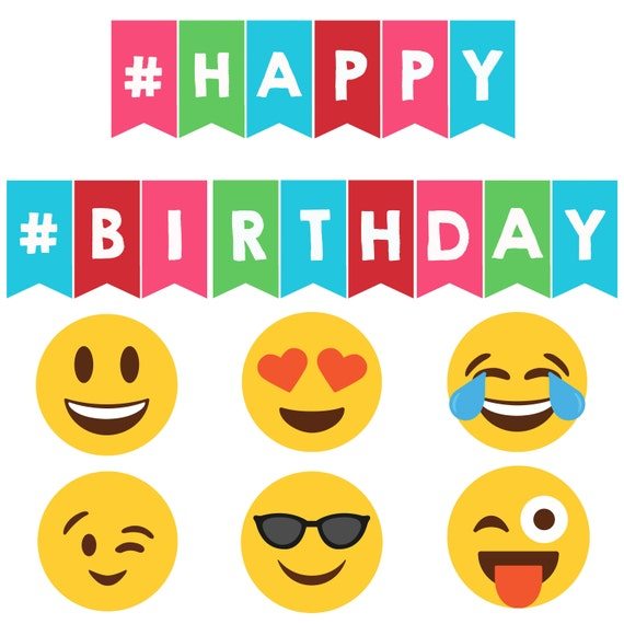 Emoji Party Banner Happy Birthday