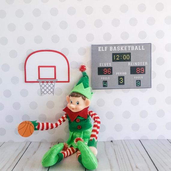 Christmas Elf Basketball Kit Elf Prop Instant Download