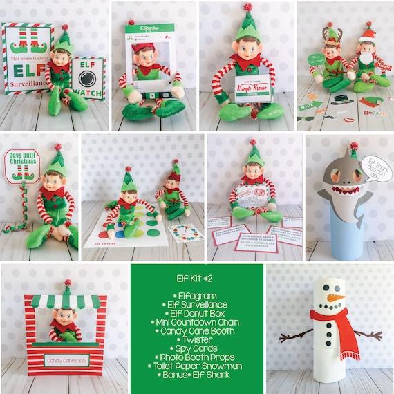 Christmas Elf Kit 2 Elf Props Instant Download Christmas