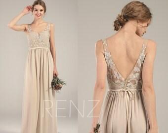 Bridesmaid Dress Cream Chiffon Dress 8e976daeefc9
