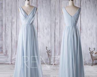 Bridesmaid Dress Light Blue Chiffon Dress 55fa59b8b49e
