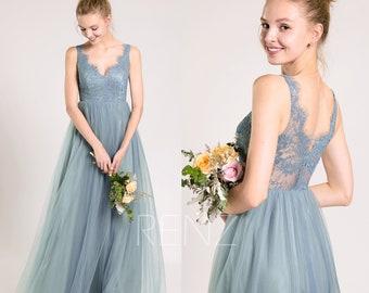 Blue Bridesmaid Gown