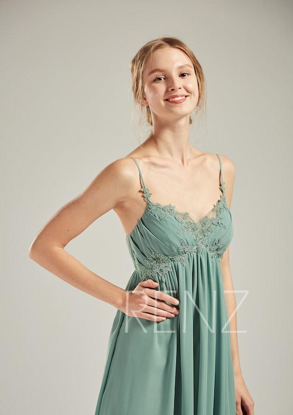 5e2b6f6adc19f Maternity Dress Green Empire Waist Maternity Wedding Dress | Etsy