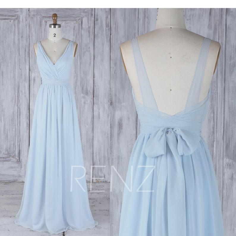 f30ff95a0e4e Bridesmaid Dress Light Blue Chiffon Dress Wedding Dress With   Etsy