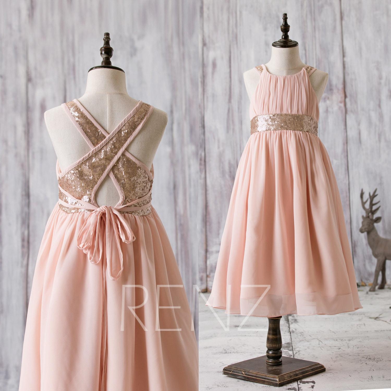 f028f7756 Gold Sequin Junior Bridesmaid Dresses