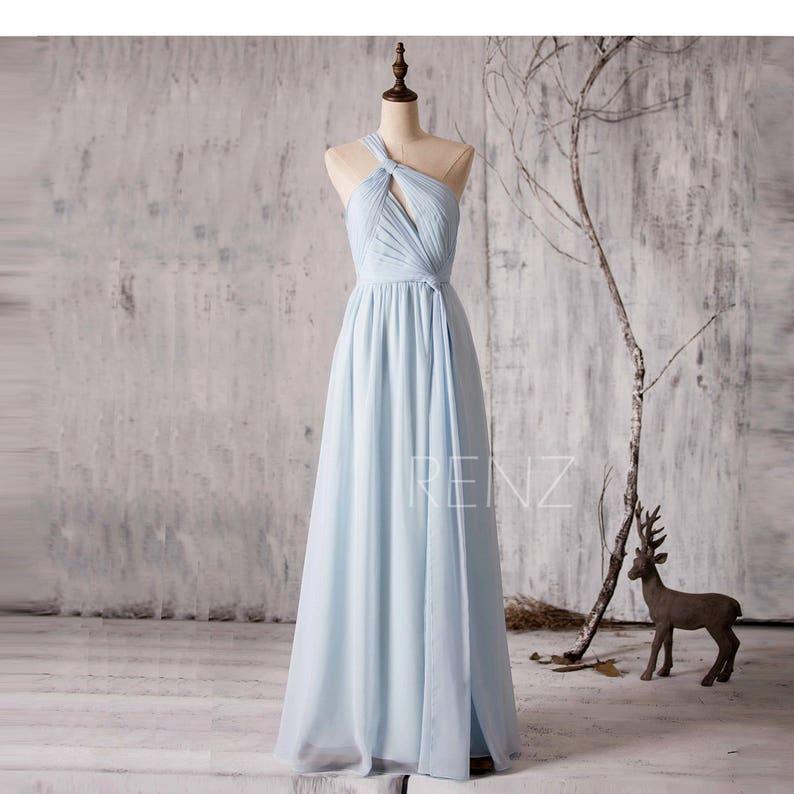 9b6935da13f Bridesmaid Dress Light Blue Chiffon DressWedding DressOne