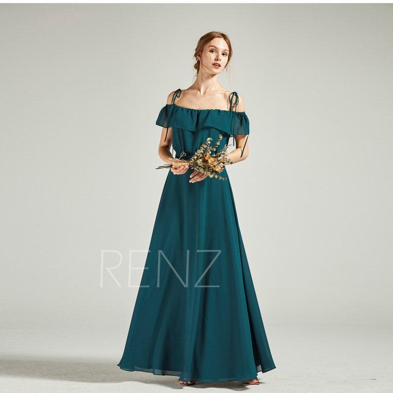9e3009d529ad Bridesmaid Dress Forest Green Prom Dress A-line Chiffon