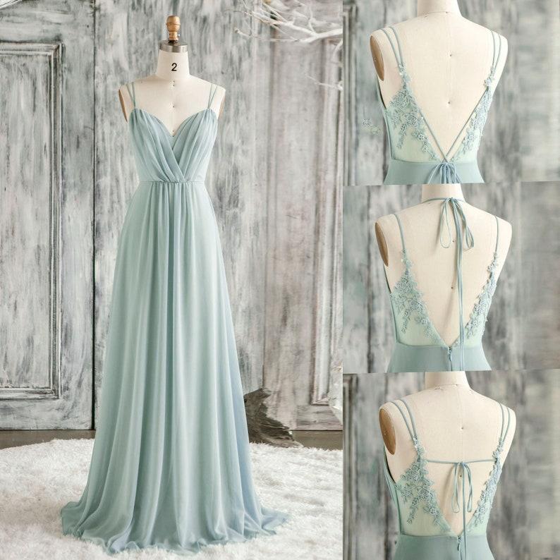 Infinity Bridesmaid Dress Dusty Mint Prom Dress Long Convertible Straps Chiffon Evening Dress Ruched Sweetheart Lace Wedding Dress (H857)