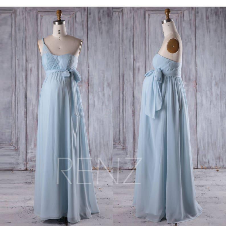 e3e583032cd Maternity Bridesmaid Dress Light Blue Chiffon PregnancyDress