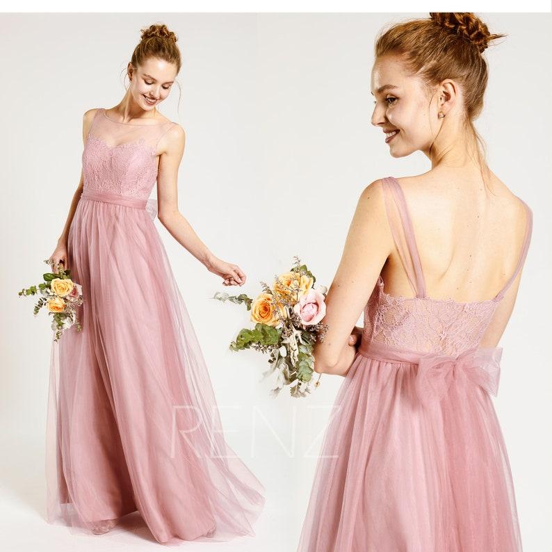 6e89fa24541 Prom Dress Dusty Rose Party Dress Sweetheart Bridesmaid Dress
