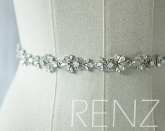 Wedding Sash, Bridal Belt, Bridal Sash, Bridesmaids Sash Crystal Sash Jewelly Belt (HA305)